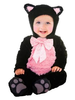 Goodmark Infant Girls Kitty Cat Cutie Costume Plush Black Jumper](Girls Kitty Cat Costume)