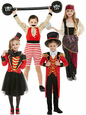 Boys Ringmaster Costume (Kids Ringmaster Strongman Costume Showman Circus Boy Girl Fancy Dress)