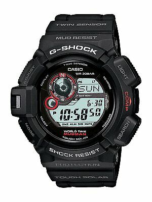 Casio G Shock G 9300 1 Wrist Watch Wristwatch Mudman Tough Solar Black G9300 1