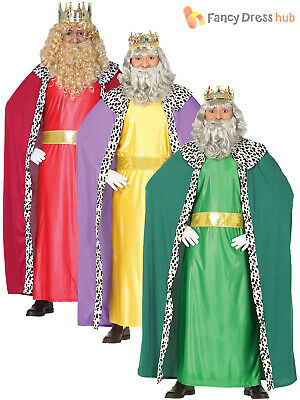 Wise Man Outfit (Mens Wise Man Men Costume Christmas Fancy Dress Three King Nativity Outfit)