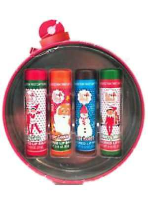 Christmas Elf Makeup (Christmas Elf Flavored Lip Balm Hot Cocoa, Candy Cane, Cookie, Minted 4)