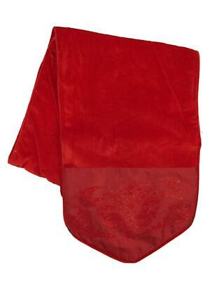 Holiday Time Premium Christmas Red Velour Table Runner & Glistening Brocade, 72