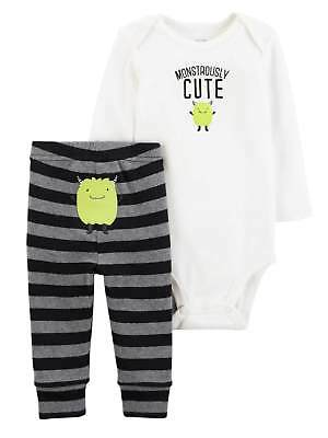 Baby Halloween Monstrously Cute 2 Pc Monster Infant Outfit Set Baby Boys Unisex
