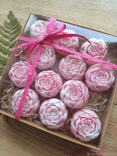 Handgemachte Geschenkseife Blütenknospe (1Stuck)Geburtstag Duftseife Naturseife