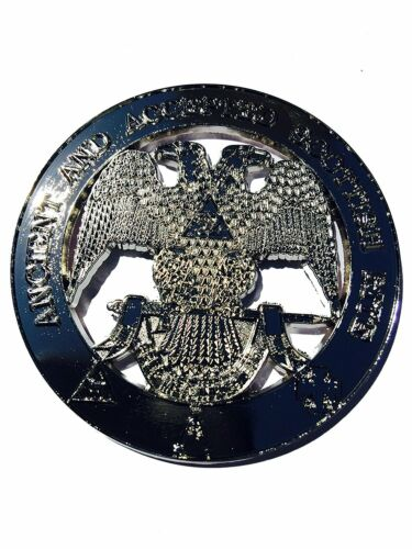 Masonic  Metal Chrome 32nd Degree Auto Car Emblem