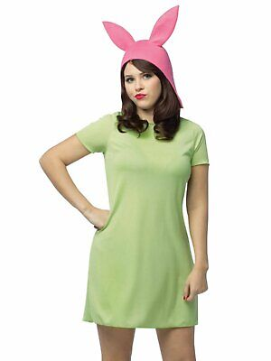 Bobs Burgers Halloween Costume (Bobs Burgers Womens Louise Halloween Costume Dress & Hat Set Small)