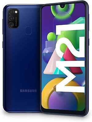 "Samsung Galaxy M21, Smartphone, Display 6.4"" 4/64GB Batteria 6000 mAh BLU BLUE"
