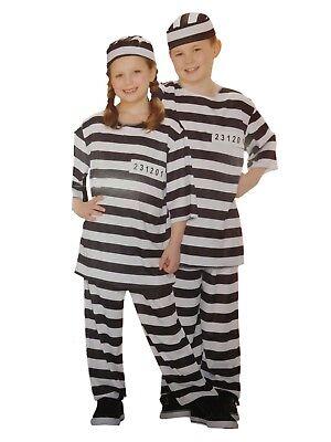 Boys & Girls Kid Prisoner Halloween Costume Hat, Top, Pants](Top Kid Halloween Costumes)