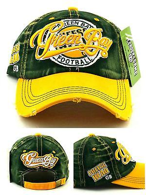 Green Bay New Leader Cheese Head Vintage Packers Green Gold Dad Era Hat (Green Green Bay Packers Hat)