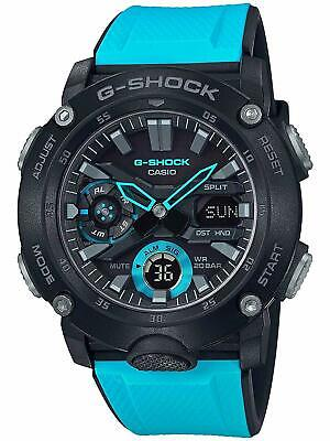 New Casio G-Shock GA2000-1A2 Carbon Core Guard Structure Blue Watch