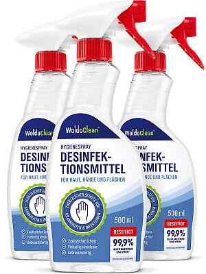 Desinfektionsmittel für Haut Hände und Flächen Spray - 3x 500ml