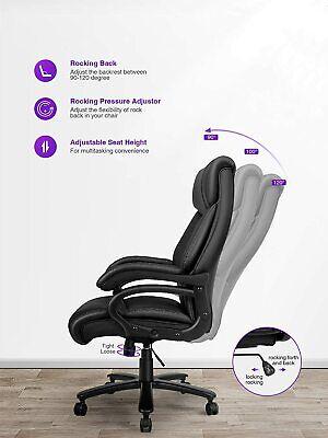 High Back Executive Office Chair Big Tall400lbs Ergonomic Pu Computer Chair