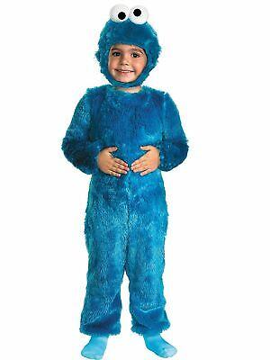 New 123 Sesame Street Cookie Monster Toddler Costume Medium 3T-4T