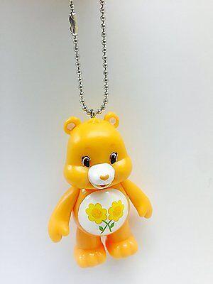 Best Friend Yellow Care Bear Keychain Dangler Key Chain Ring Figure 3