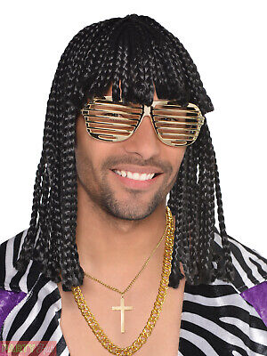 Rick James Wigs (Rick James Supa Freak Wig 80s Celebrity Funk Fancy Dress Costume)