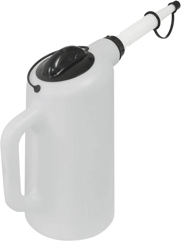 Automotive Oil Liquid Dispenser Technician 8Qt Jug Fill With Lid And Cap NEW