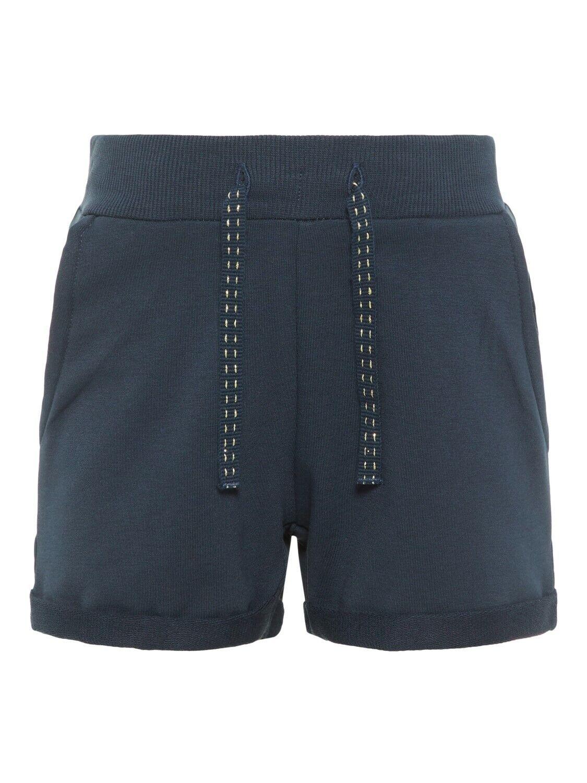 NAME IT Mädchen Sweatshort Short kurze Hose Marine verstellbarer Bund 128 - 164