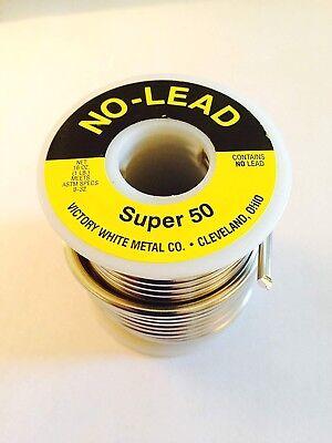 Soldering Welding 1 Pound Wire Spool Super 50 Plumbing Lead Free Solder Lsf