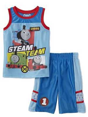 Train Engineer Outfit (Thomas & Friends Toddler Boys Thomas the Train Baby Outfit Engine Gym Shorts)