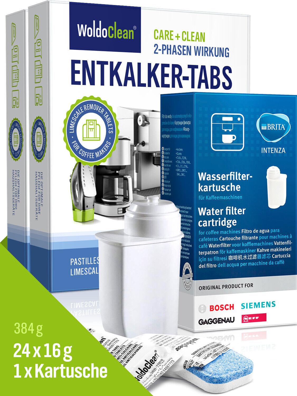 Siemens Kaffeevollautomaten Set mit Brita Wasserfilter & 24 Entkalkungstabletten