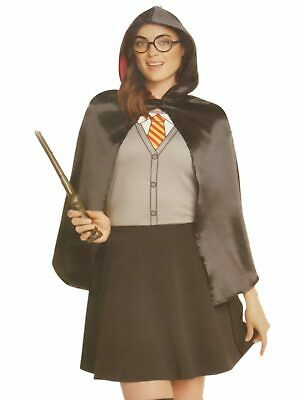 Harry Potter Womens Hermione Halloween Costume Dress Cape & Glasses](Harry Potter Hermione Halloween Costume)
