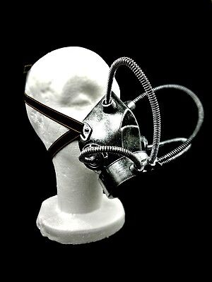 Silver Steam Punk Gas Mask Respirator Sci-Fi Goth Halloween Costume Hydra Prop