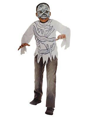 Boys Mummy Halloween Costume Top & Mask Set