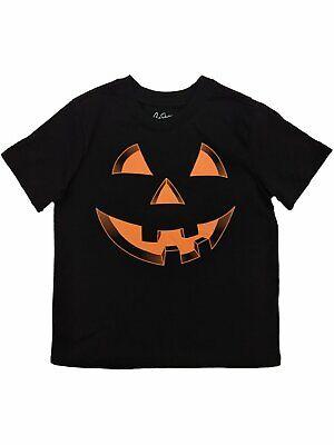 Toddler Boys Black Pumpkin Halloween T-Shirt Jack-o-lantern Tee Shirt](Halloween Pumpkin Toddler Shirt)