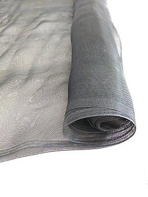 Agfabric Safe and Sound Black 10'-Wx50'-L Garden Netting Mosquito Netting