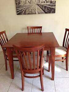 Solid timber dining table Denistone Ryde Area Preview