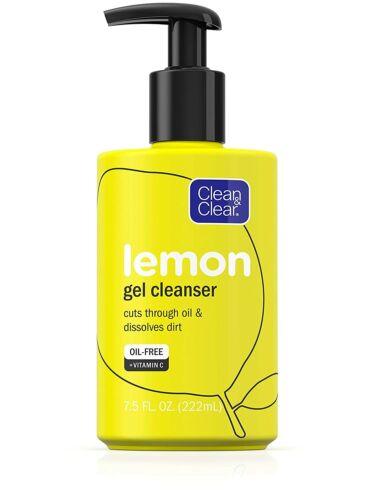 Clean & Clear Lemon Gel Facial Cleanser with Vitamin C - 7.5