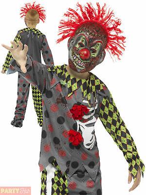 Boys Twisted Clown Costume Teen Halloween Circus Fancy - Halloween Kostüme Teen Boys