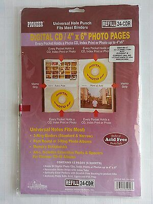 (Pioneer 24-CDR CD/DVD Storage Refill Pages for CD-48 Leather CD Photo Album)