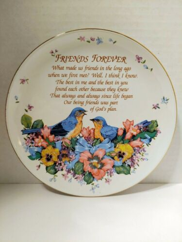 Vintage Friends Forever collector plate 1990 Heirloom Editions by Paula