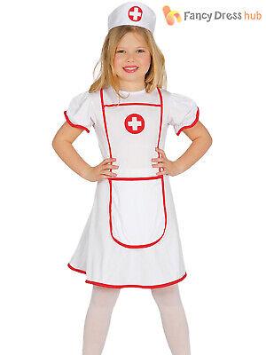 Girls Nurse Costume (Girls Nurse Costume Childs Hospital Medical Uniform Fancy Dress Kids Book)