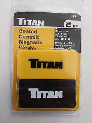 Titan 11184 Coated Ceramic Magnetic Blocks 2pc