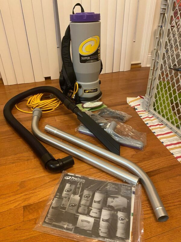 ProTeam Super QuarterVac 6 Quart HEPA Commercial Backpack Vacuum Cleaner SQV-100