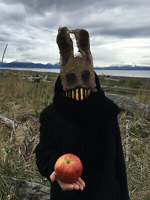 Creepy Scary Burlap Rabbit Masks ](Scary Rabbit Mask Halloween)
