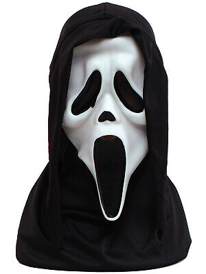 Official Scream Mask Halloween Horror Ghost Scary Mask Black Hood Costume - Scream Costumes Halloween