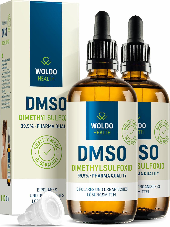 Dimethylsulfoxid DMSO 99,9% Reinheit ph. Eur. pharmazeutische Qualität 2x 100ml