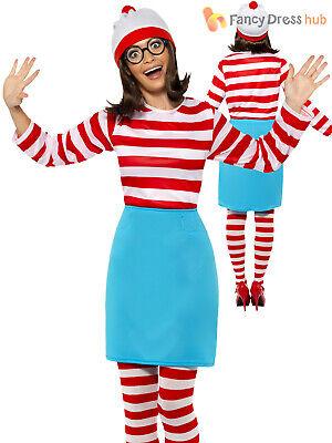 Ladies Wenda Costume Adults Licensed Where's Wally Fancy Dress Book Week -