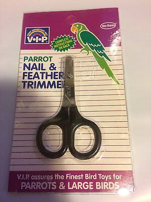 VOTOYS STEEL SMALL BIRD NAIL & FEATHER CLIPPER TRIMMER XPET. FREE SHIP TO USA