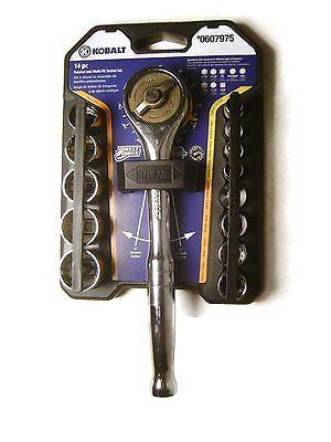 NEW! Kobalt Direct Drive Gerless 14 Piece Ratchet Wrench Hand Tool Sets Driving