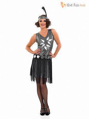 1920s Cocktail Dress Costume Ladies Flapper Fancy Dress Charleston Gatsby (Cocktail Fancy Dress Kostüm)