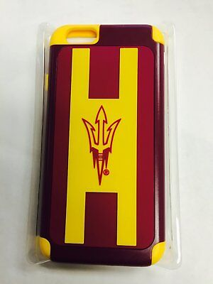 Arizona State Sun Devils NCAA Apple iPhone 6 / 6s Dual Hybrid Two Piece Case Devils Two Piece