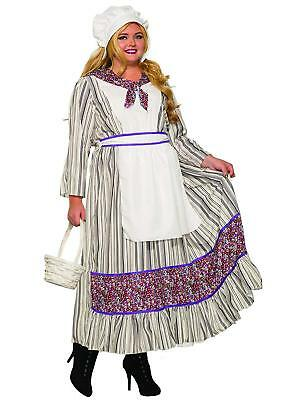 Colonial Halloween Costumes Adults (Pioneer Woman Colonial Prairie Fancy Dress Up Halloween Plus Size Adult)