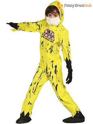 Breaking Bad Jumpsuit (Boys Nuclear Zombie Hazmat Jumpsuit Costume Breaking Bad  Halloween Fancy Dress )