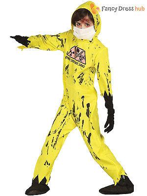 Breaking Bad Jumpsuit (Boys Nuclear Zombie Hazmat Jumpsuit Costume Breaking Bad  Halloween Fancy Dress )