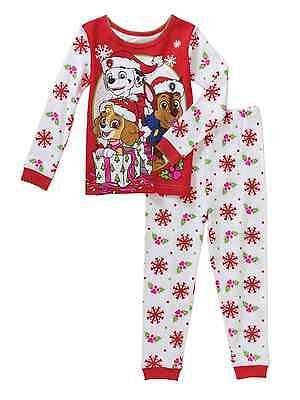 Paw Patrol Christmas Holiday Baby Toddler Pajamas Sleepwear Various Sizes NWT (Holiday Toddler Pajamas)