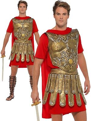 Roman Gladiator Spartacus Costume Mens Gladiator Centurion Fancy Dress Outfit M,